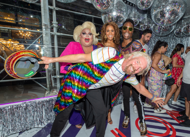 Sir Richard Branson, Billy Porter, Ginger Minj and Deborah Cox celebrate Pride and announcement of Virgin Voyages LGBTQ+ charter with Atlantis Events