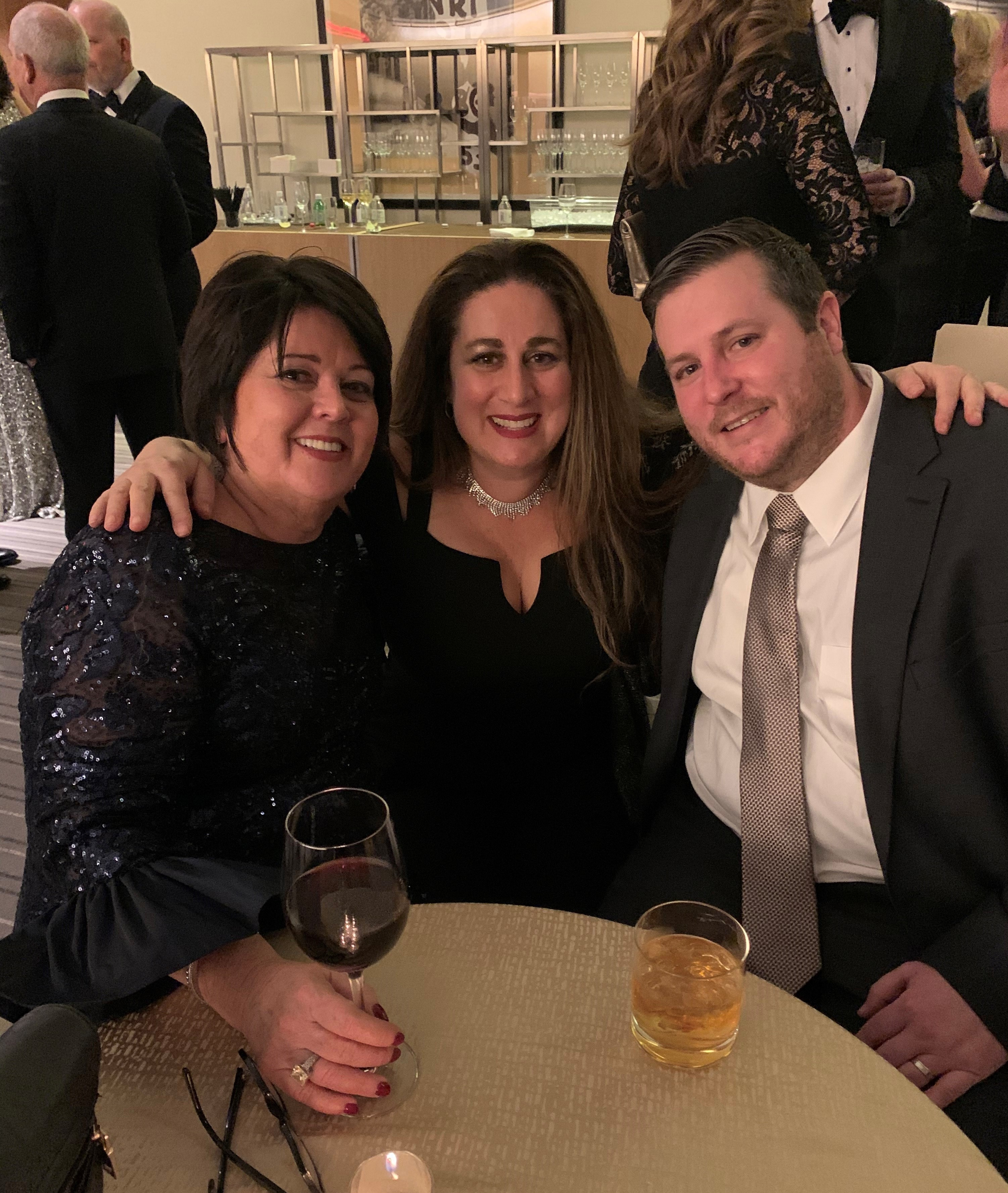 Anne Marie Moebes, Jennifer Arango, and Louis Intreglia from TMR attending the Tourism Cares Awards at the Conrad Hotel