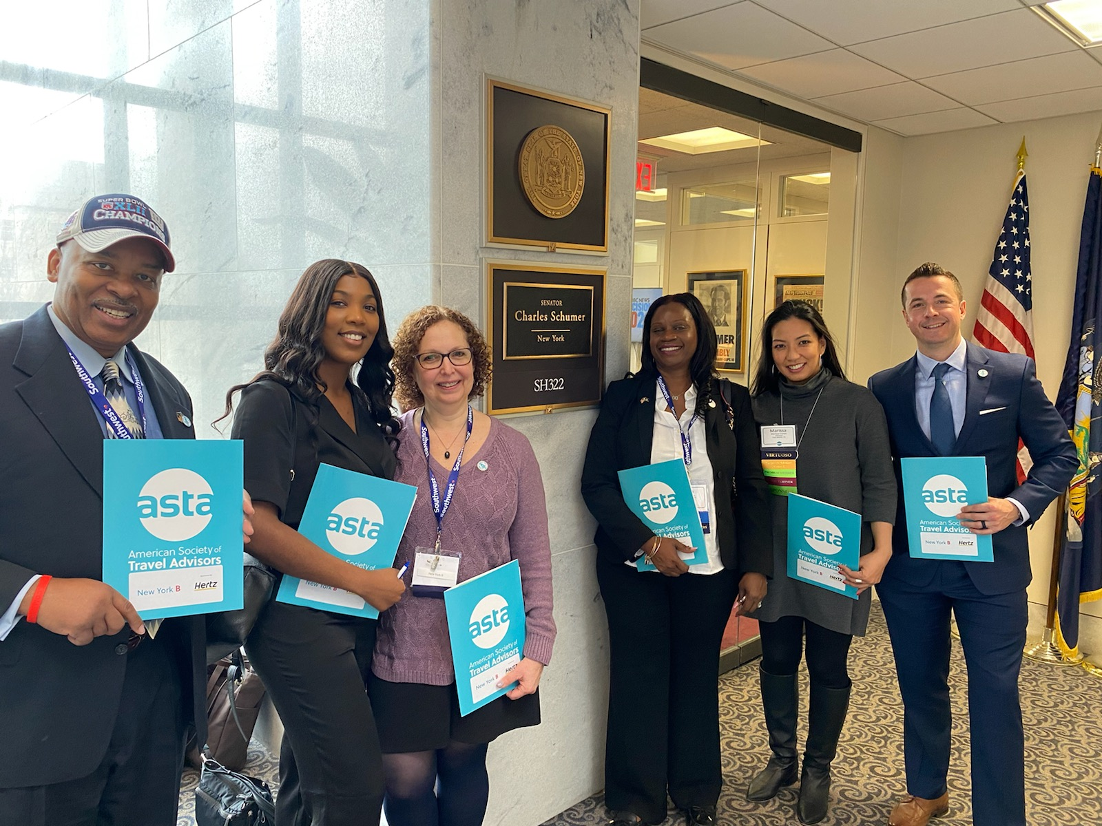 Travel Market Report's Associate Publisher Brian Israel joins ASTA officials at Washington, D.C. for  ASTA Legislative Day